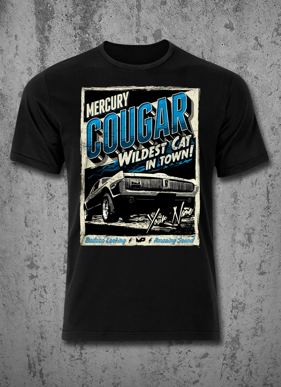 Image of ★ CUSTOM NAME ★ Cougar T-Shirt / Blue / Male