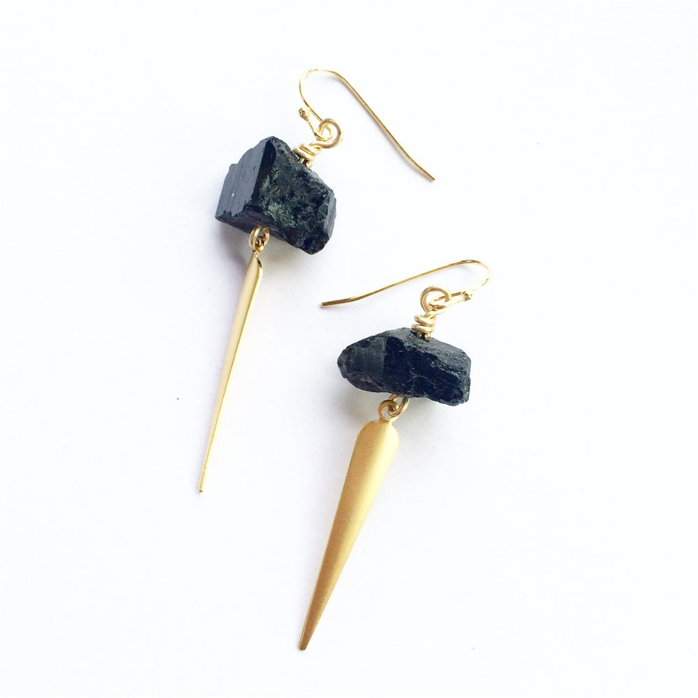 Image of Tourmaline Spear Earrings SOLD OUT