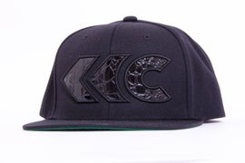 Image of All Black Croc Appliqué Snap Back