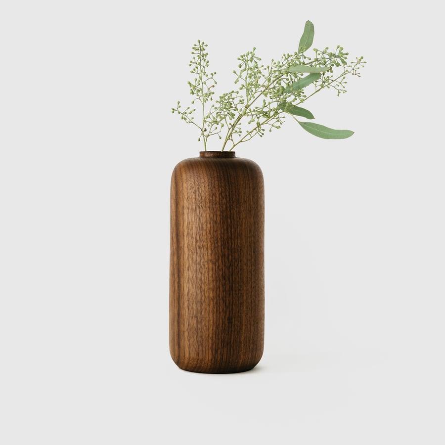 Image of Tall Walnut Vase