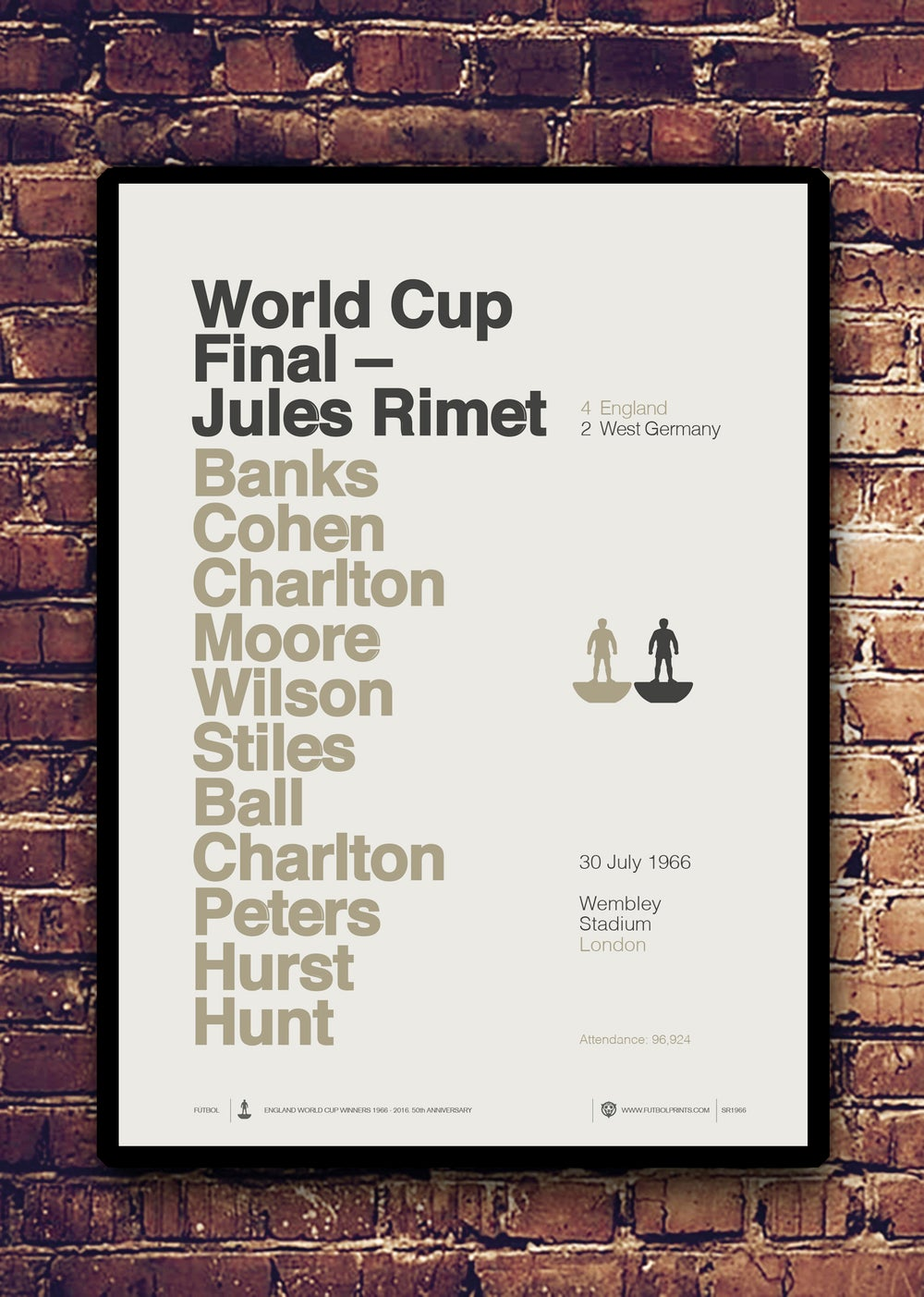 Image of JULES RIMET 1966 -                               LIMITED EDITION SCREEN PRINT