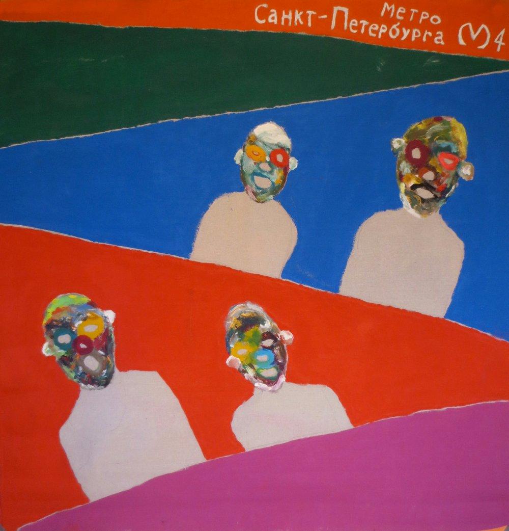 Image of Original painting created in Saint Petersburg, Russia (Metro #4)