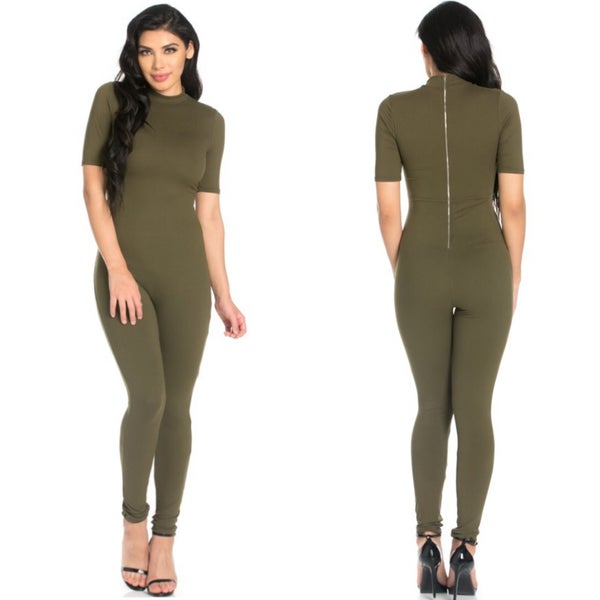 Image of Mock Neck Jumpsuit