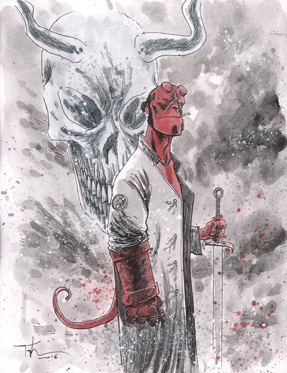 Image of HELLBOY PAINTING