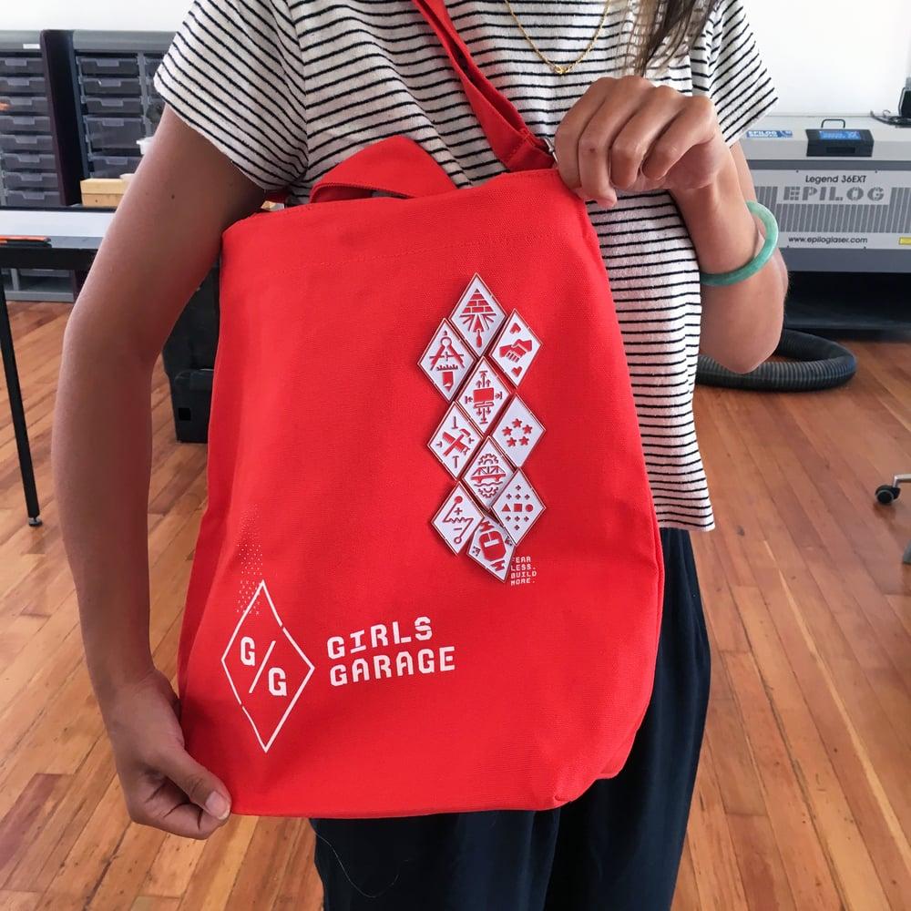 Girls Garage Tote Bag