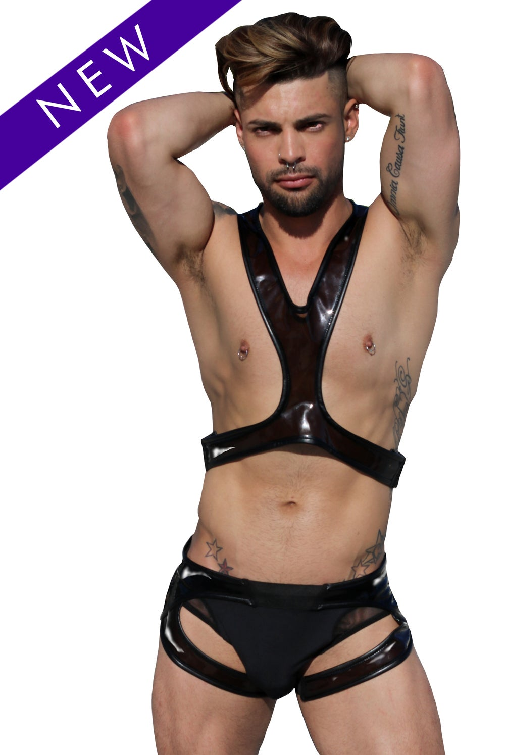"Image of ""HOT AND SHINY"" PLASTIC HARNESS (TOP)"