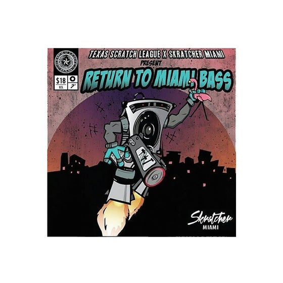 "Image of Texas Scratch League x Skratcher Miami : Return to Miami Bass (pink 7"")"