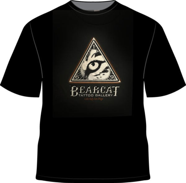 Mens Bearcat Logo Black T Bearcat Gallery