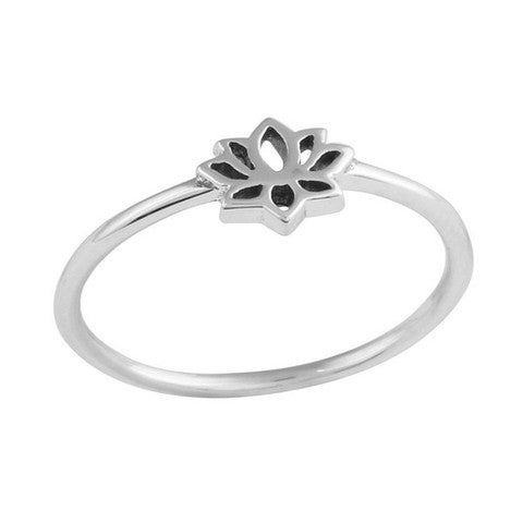 Image of Sterling Silver Tiny Lotus Ring