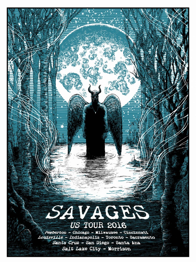 Image of Savages US Tour Poster 2016 Pt3