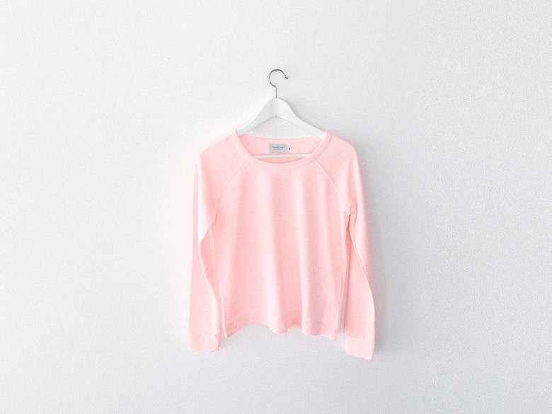 Image of Soft Pink Sweatshirt (Unprinted)