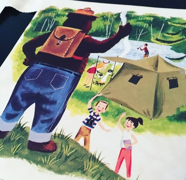 Image of Smokey Bear and the Campers - Story Book Bunting