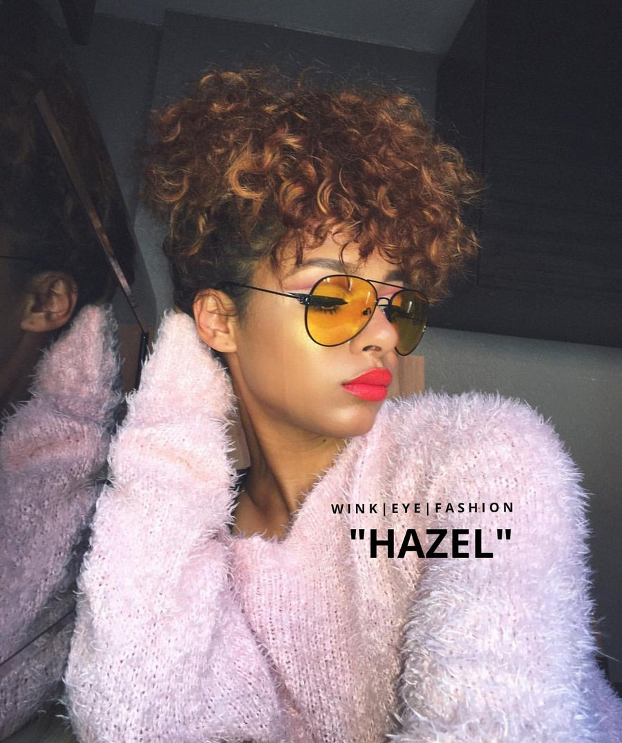 Image of HAZEL YELLOW AVIATOR