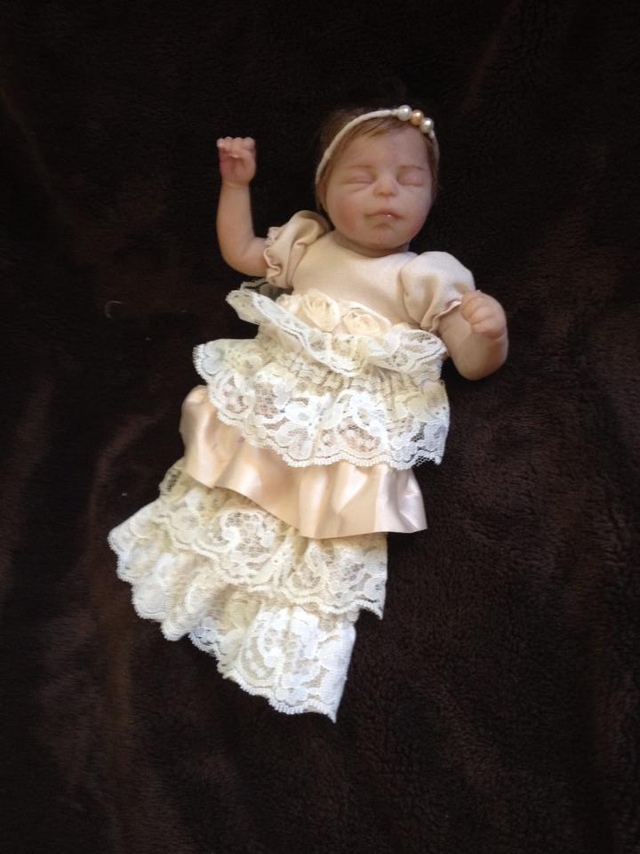 Image of fancy dress for a 7 inch baby.