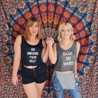 Image of GO SMUDGE YOURSELF crop tanks