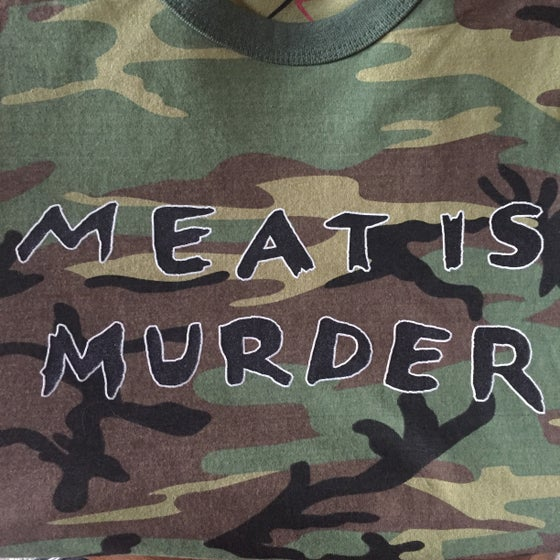Image of Meat is Murder Camo T-shirt