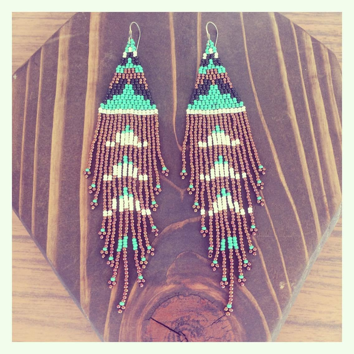 Image of Copper Cloud Earrings