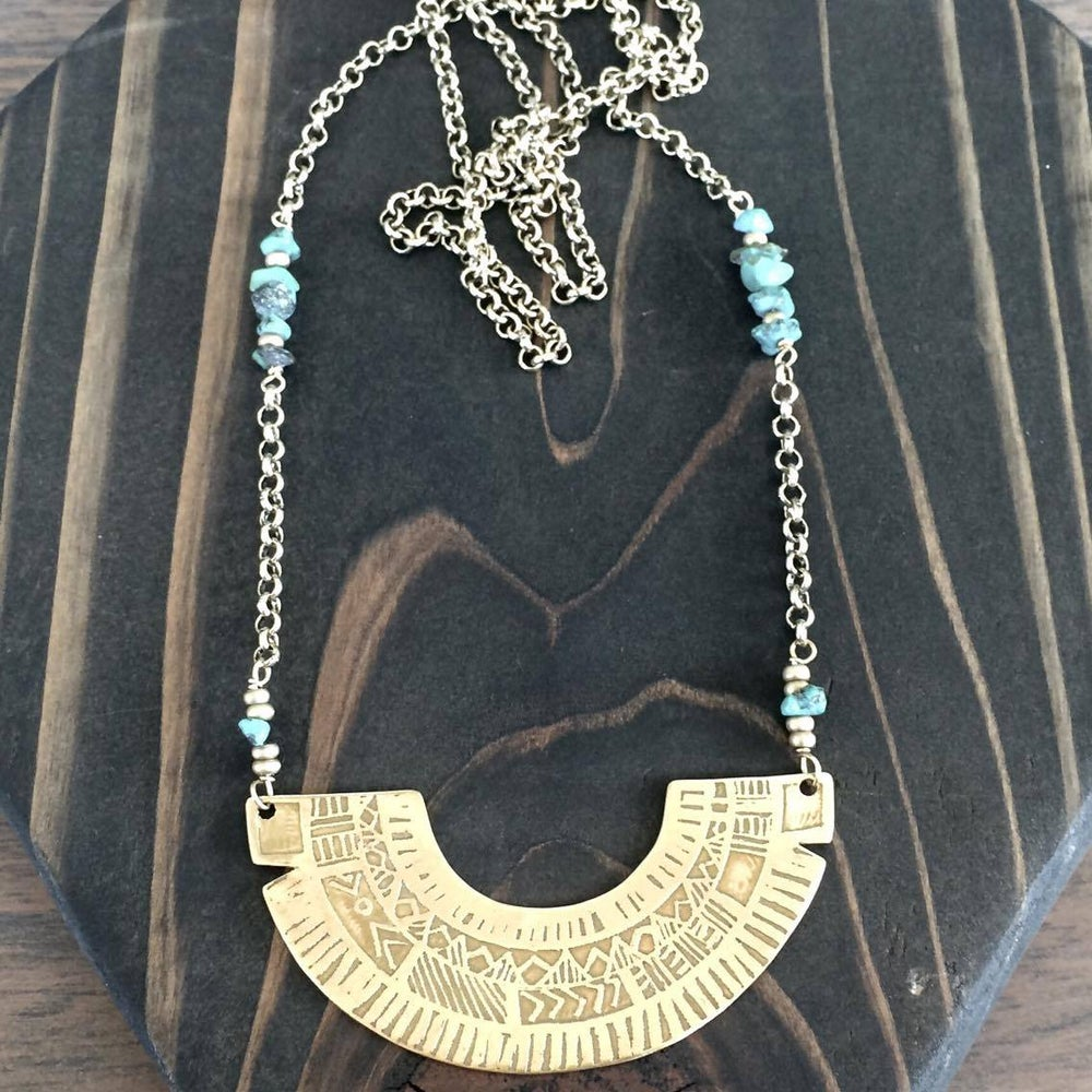 Image of Long Mountain Necklace w/ Turquoise