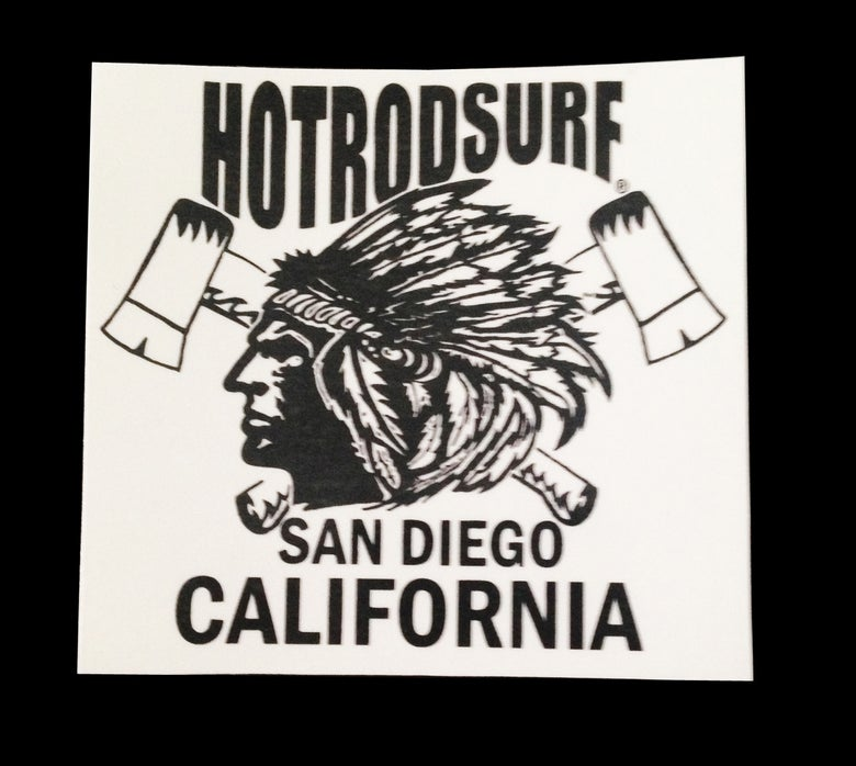 Image of Chief Sticker Decal ~ HOTRODSURF ~ Hot Rod Surf ® - White