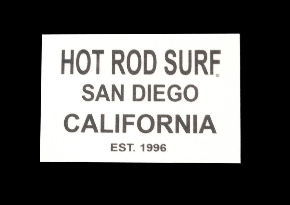 Image of HOT ROD SURF EST Sticker Decal ~ HOTRODSURF ~ Hot Rod Surf ® - White