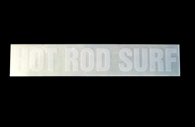 Image of Classic Sticker ~ HOTRODSURF ~ Hot Rod Surf ® – Clear