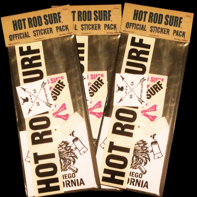 Image of Decal Sticker Pack ~ HOT ROD SURF ~ Hot Rod Surf ® - 6 Qty