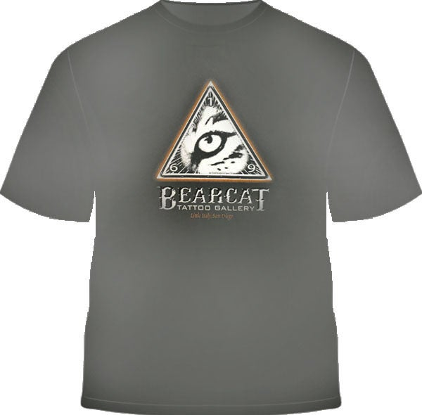 Image of Men's Bearcat Logo Metal Grey T