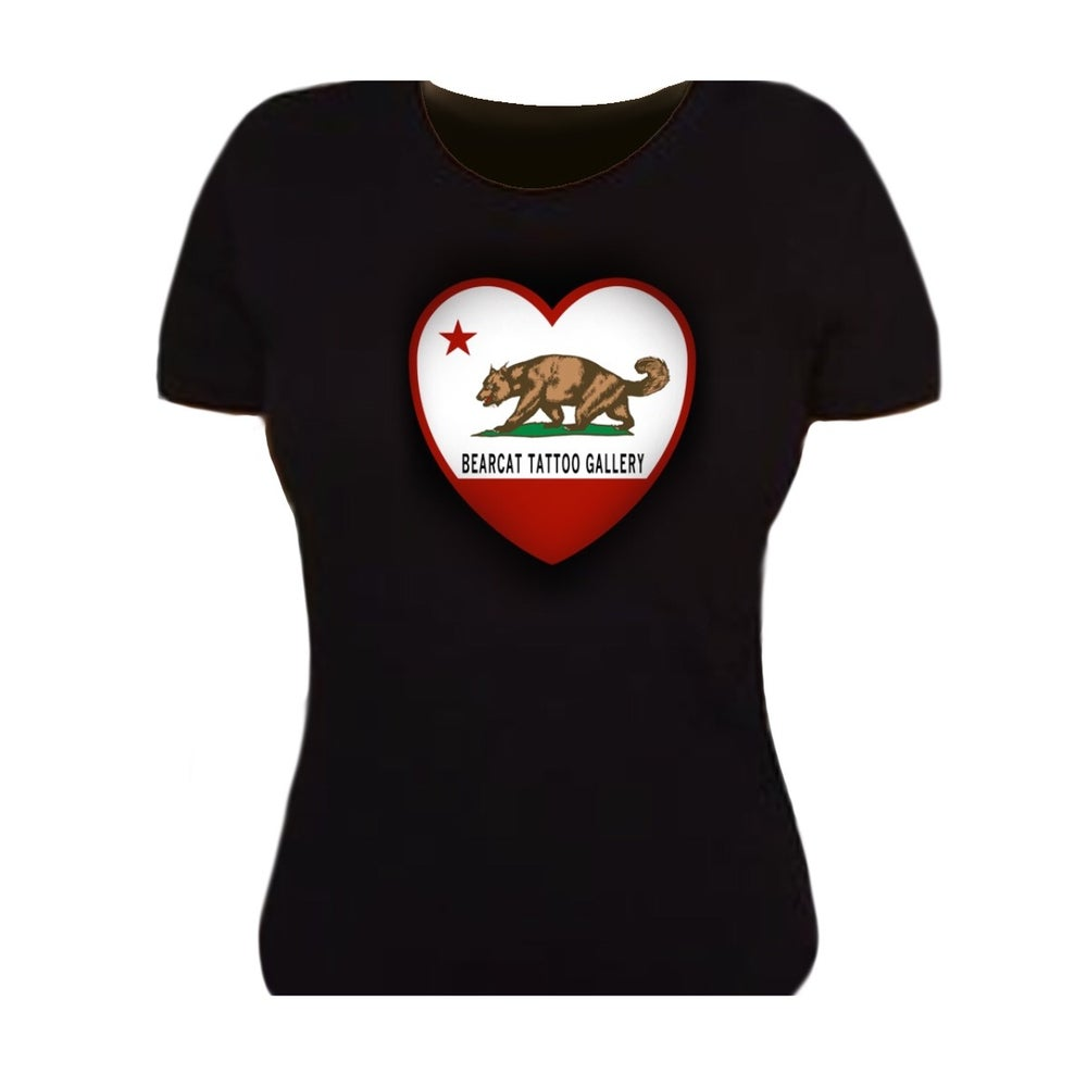 Image of Woman's Cali-Heart Bearcat T-Shirt