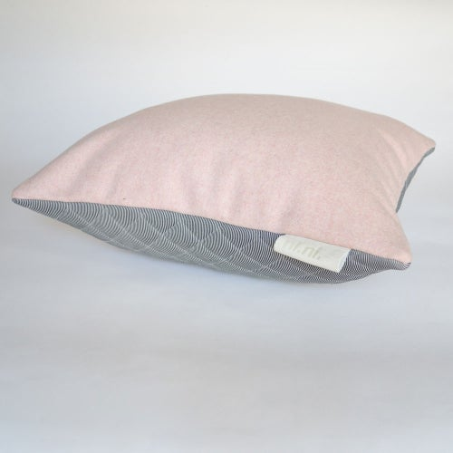 Image of - SALE - LAST ONE! Kumo Cushion Cover - Pink/Grey Square