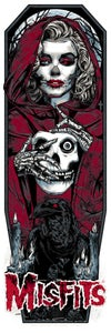 Image of MISFITS GHOST art print - CRIMSON RED