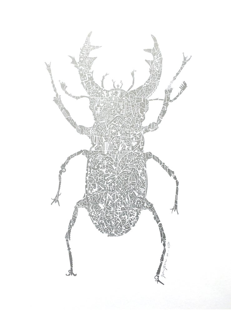 Image of Stag Beetle - Silver (Copper edition sold out)