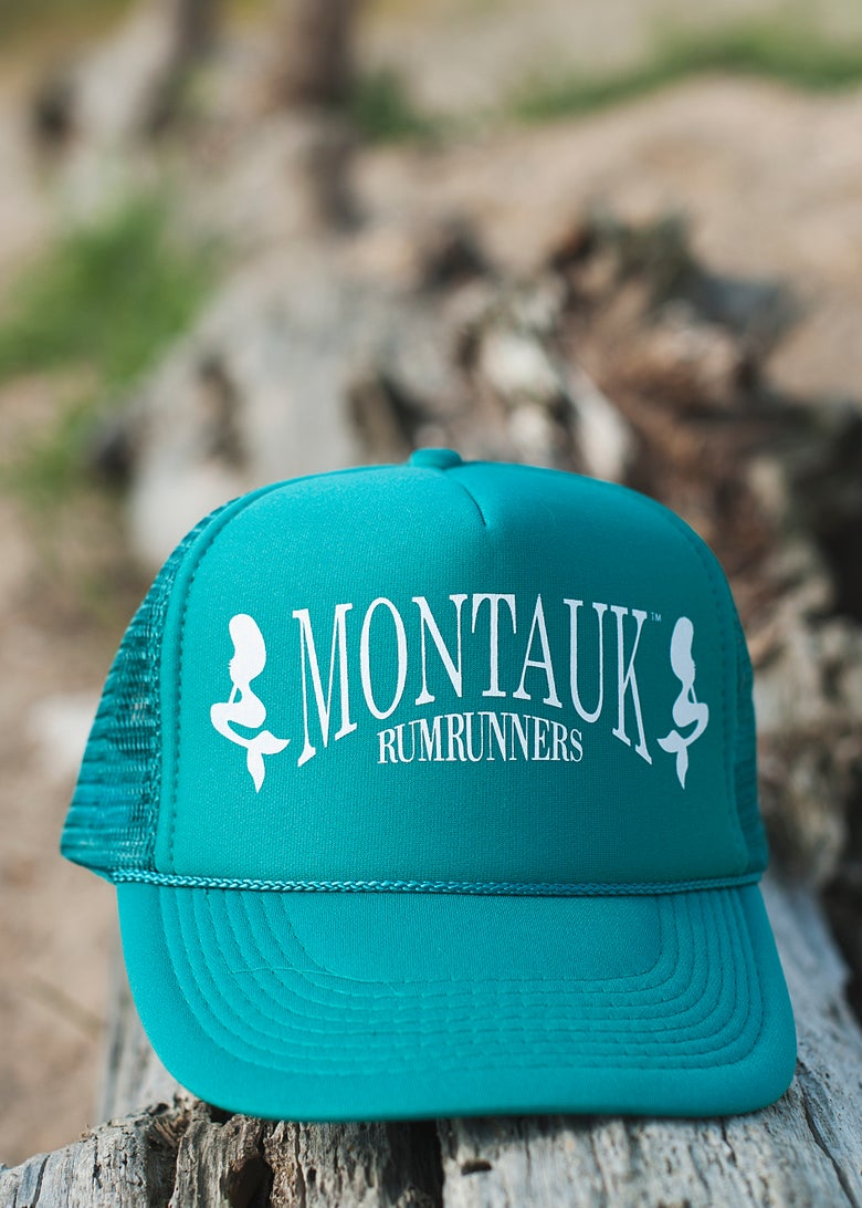 Image of teal snapback hat