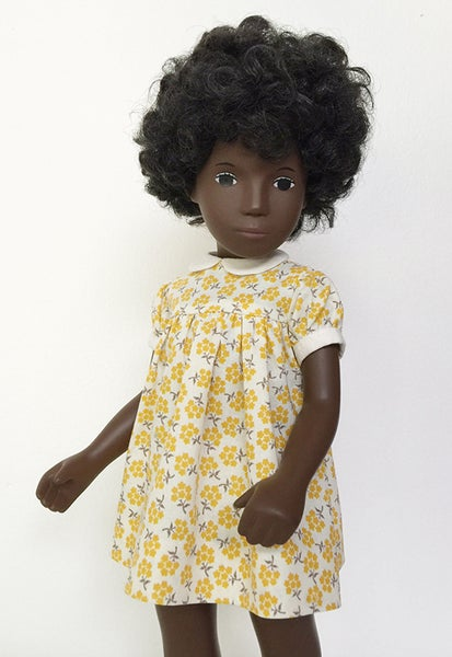Image of Yellow Floral Print Dress