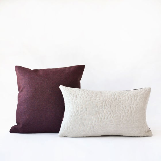 Image of Crimson White Cushion Cover - Square