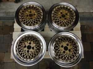 "Image of Genuine BBS E50 17x8.5"" 4x108 3-Piece Split Rim Alloy Wheels"