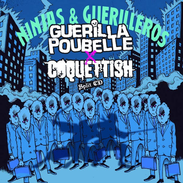 "Image of Guerilla Poubelle / Coquettish ""Ninjas & Guerilleros"" (Split Cd)"