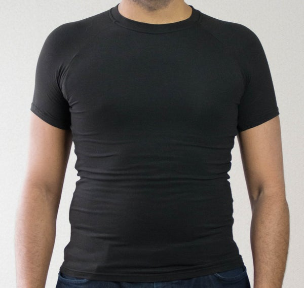 Image of Black Men's Crew Neck Short Sleeve