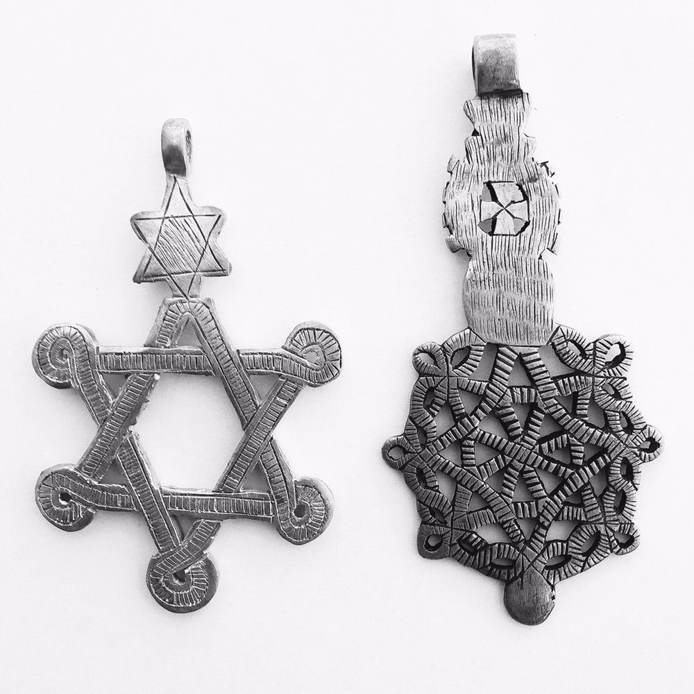 Image of handmade blessed cross