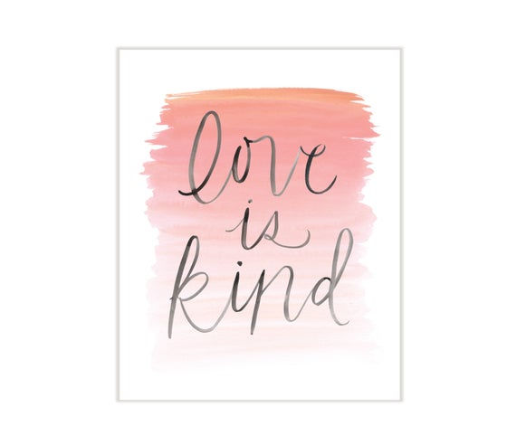 Image of love is kind
