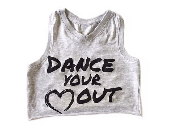 Image of DANCE YOUR HEART OUT CROP TANK