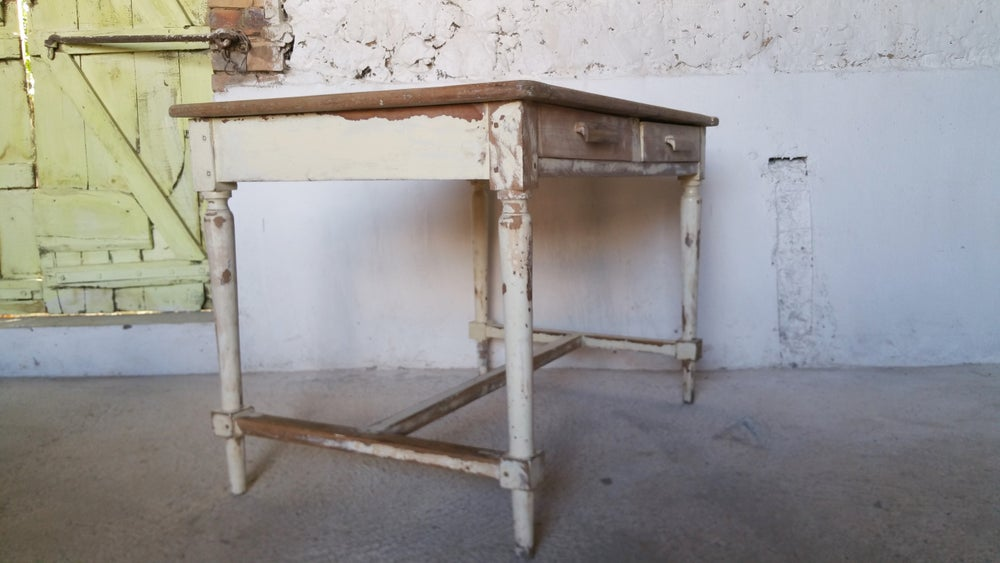 table campagnarde deco shabby chic fibresendeco vannerie artisanale mobilier vintage. Black Bedroom Furniture Sets. Home Design Ideas