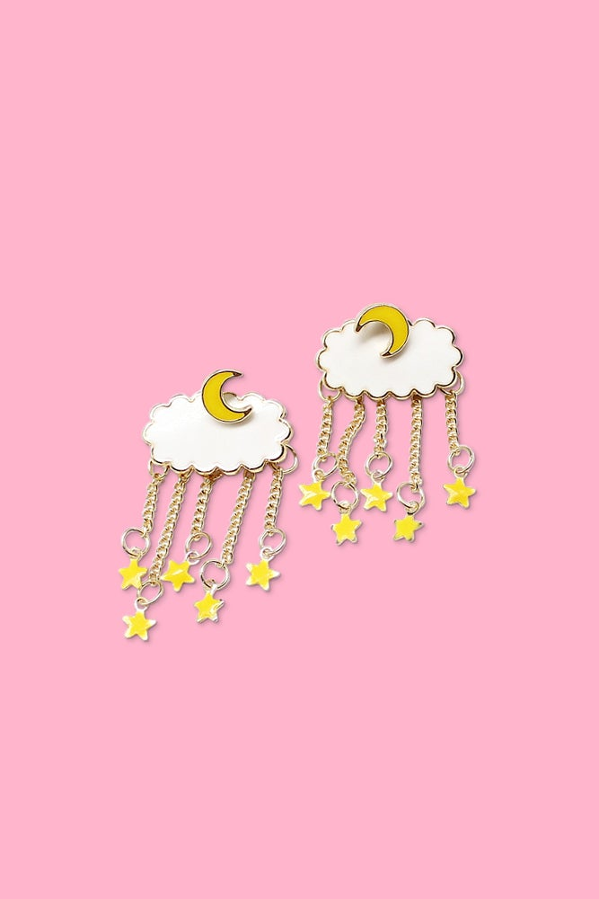 Image of MOON & STARS EARRINGS