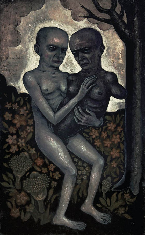 "Image of ""My Malignant Twin"" - Acrylic on Wood"