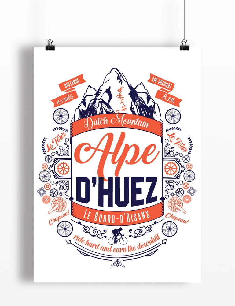 Image of Alpe d'Huez print - A4 or A3
