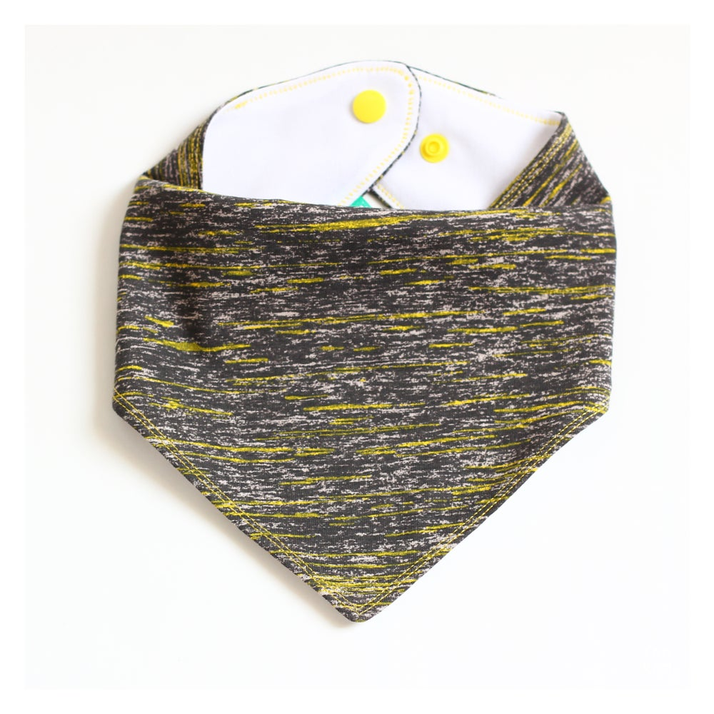 Image of Bavoir bandana Yellow Galaxy - DERNIERES PIECES!