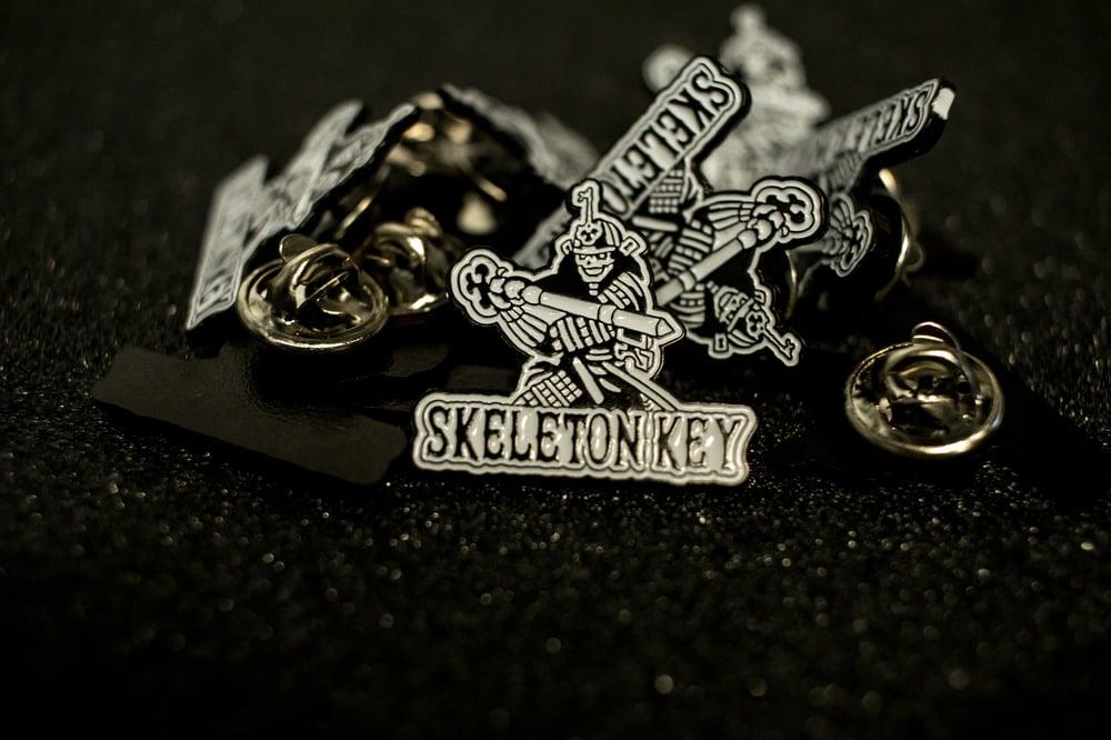 Image of SKELETON KEY MFG SAMURAI ENAMEL PIN