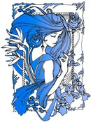Image of INK NOUVEAU BLUE PRINT
