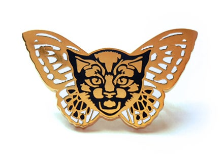 Image of Fly Pussy Enamel Pin