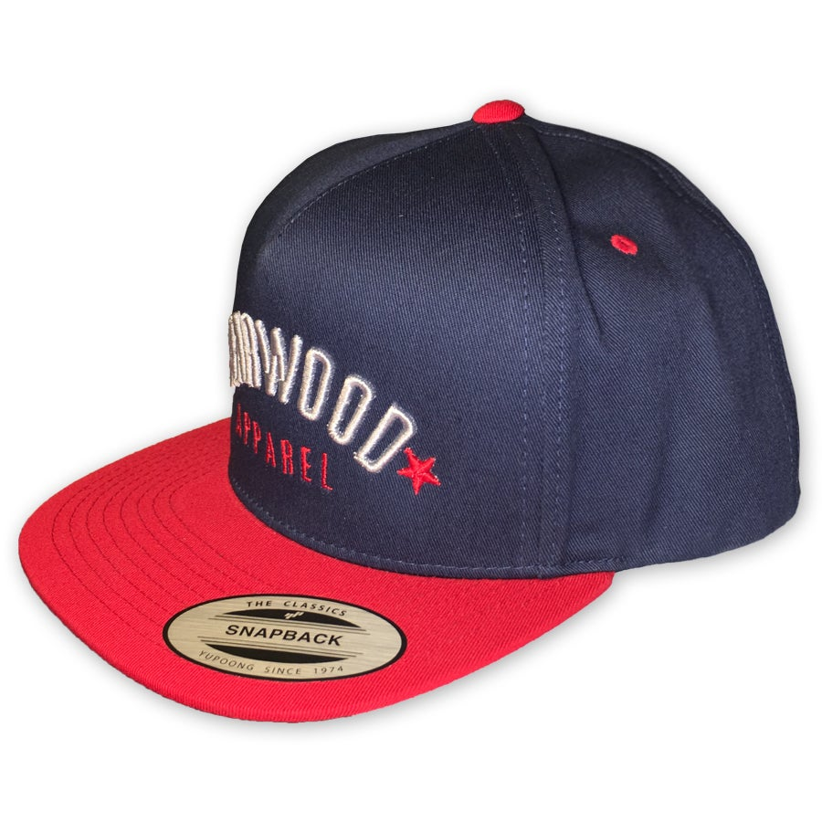 Image of BW HAT - PUFF LOGO -Navy-Red
