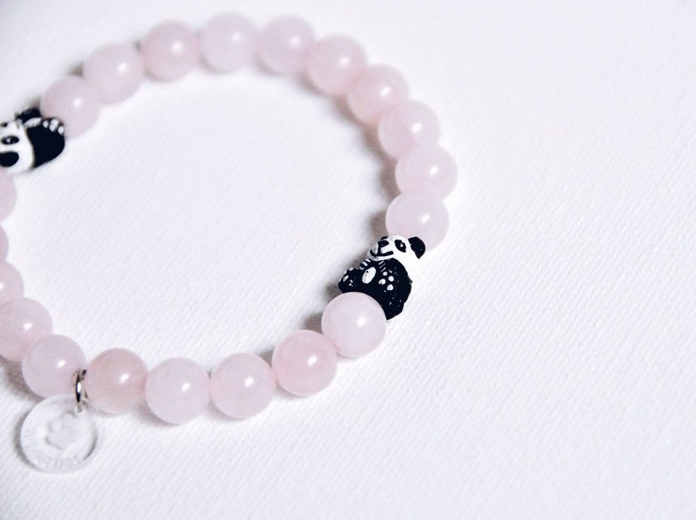 Image of Rose Quartz Panda Bracelet